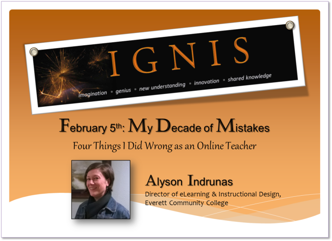 IGNIS Promo - My Decade of Mistakes - ALYSON INDRUNAS