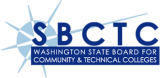 blue starburst logo with the words Washington State Board for Community & Technical Colleges