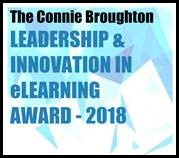 Connie Broughton Leadership & Innovation in eLearning Award - 2018