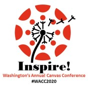 2020 Washington's Annual Canvas Conference (WACC) logo with the word Inspire and the hastag #WACC2020